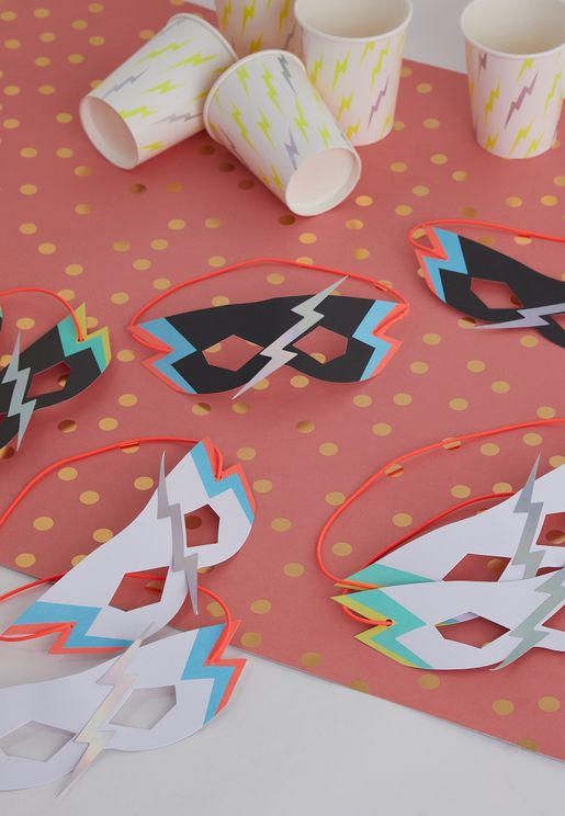 Zap! Party Masks 8 Pack