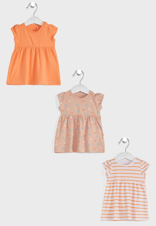 Infant 3 Pack Assorted Dress