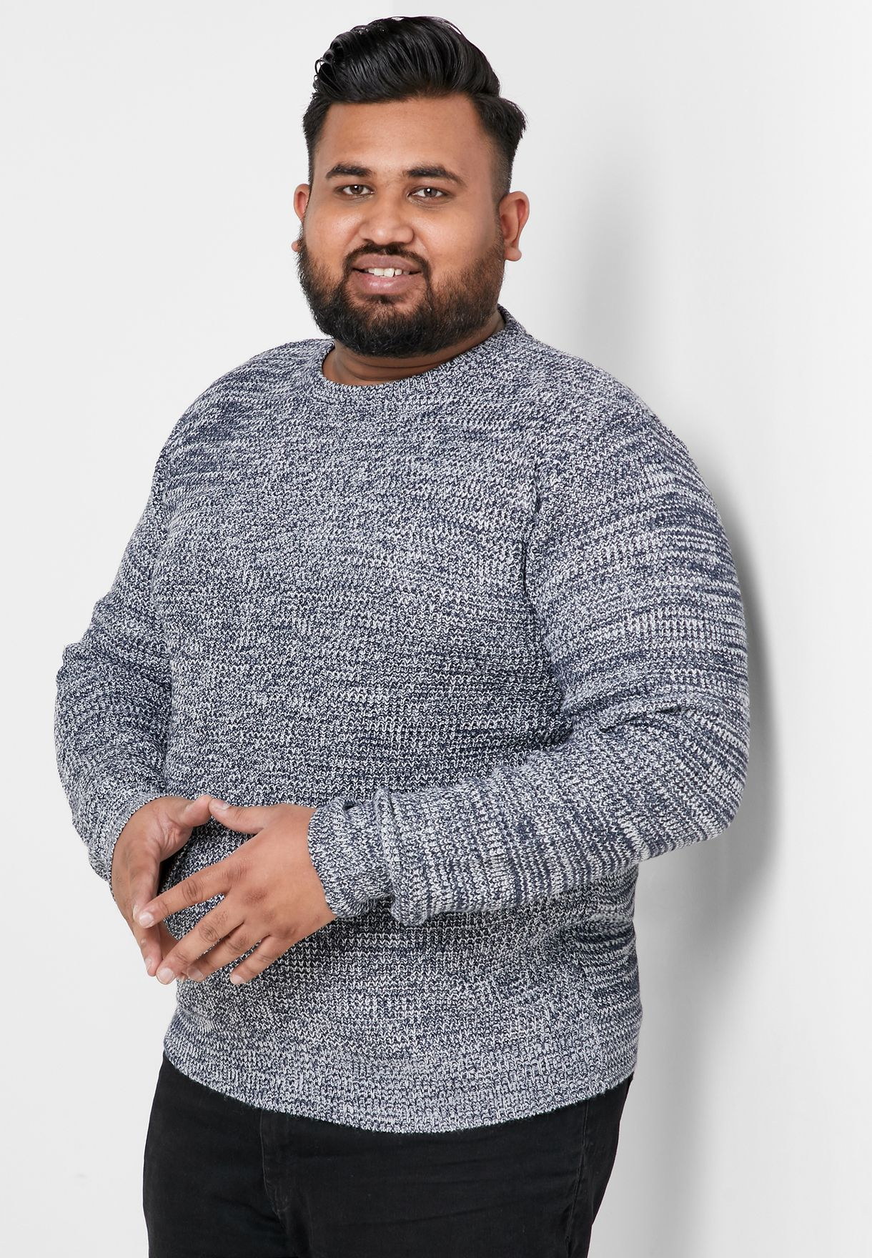 Plus Size Textured Knitwear