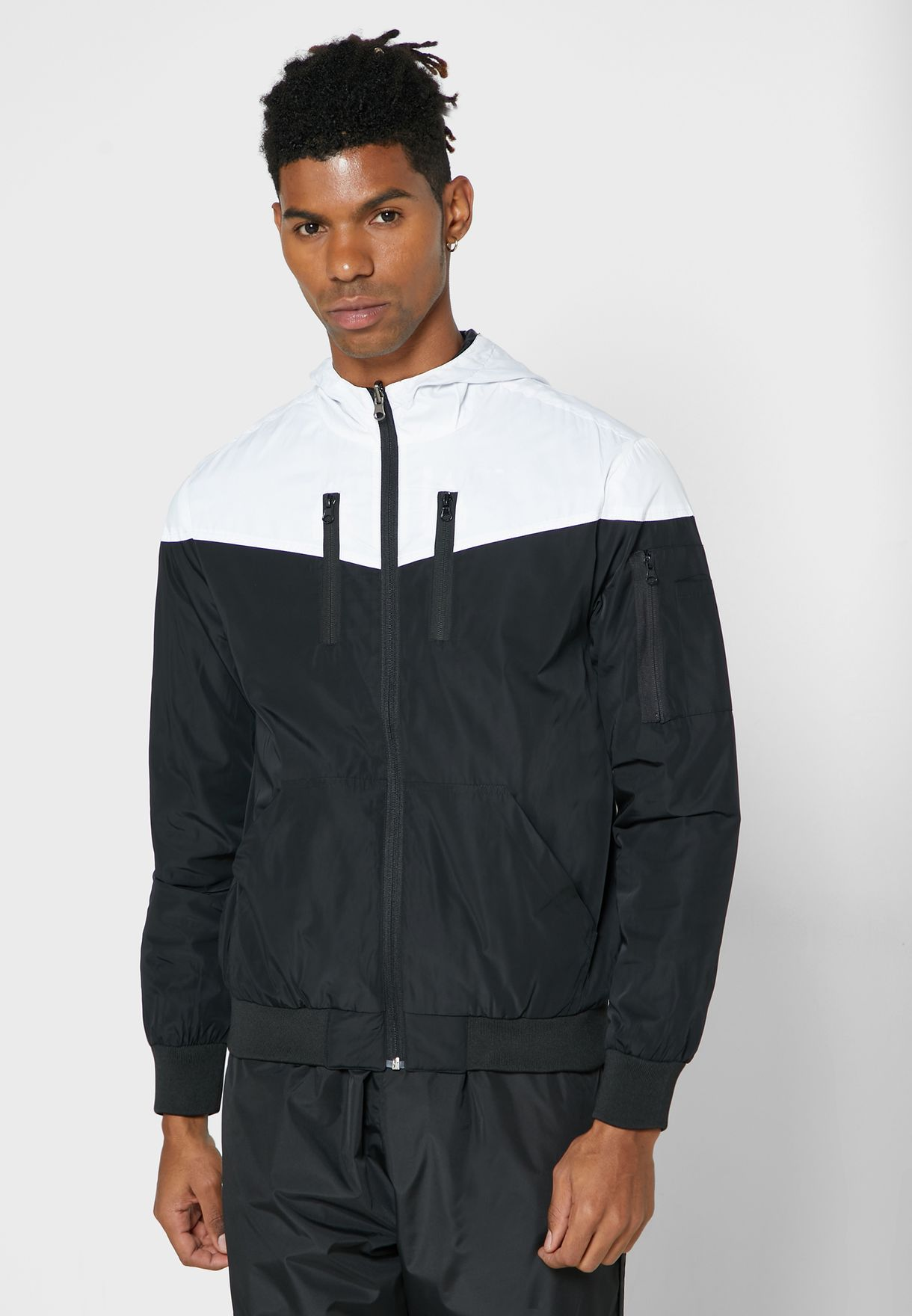 Colour Block Wind Breaker Jacket