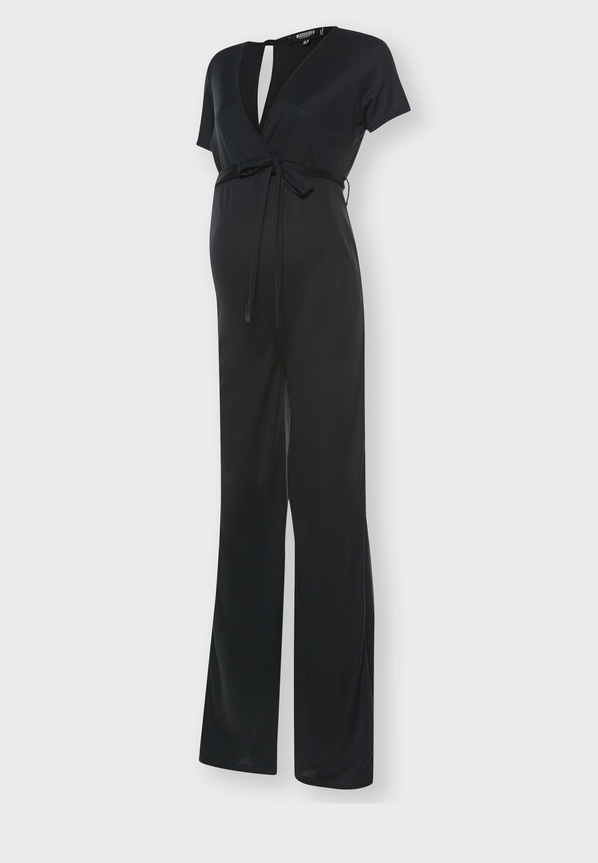 Belted Ribbed Jumpsuit