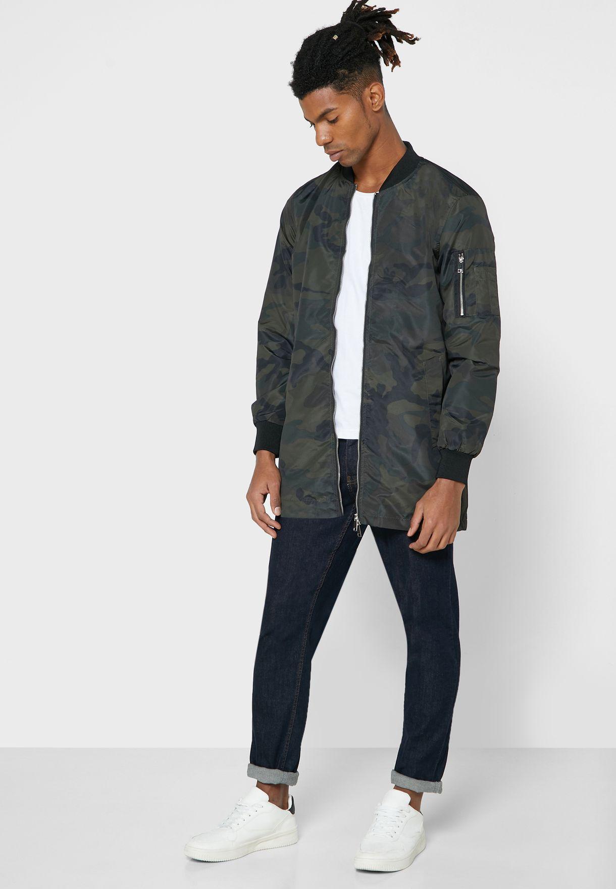 Taslan Printed Mac Jacket