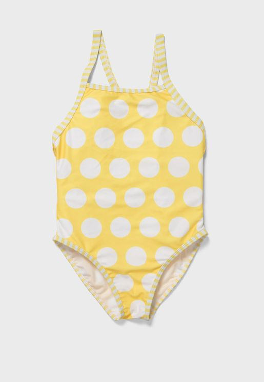 Kids Dot Print Swimsuit
