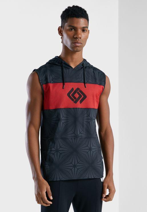 Hooded Printed Vest