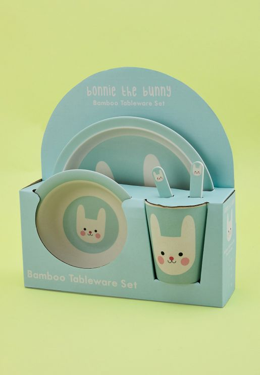Bonnie The Bunny Bamboo Tableware