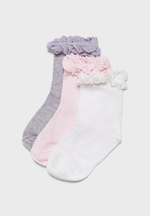Kids 3 Pack Socks