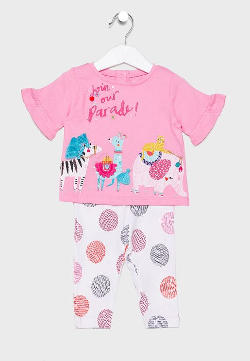Infant Printed Top + Legging Set