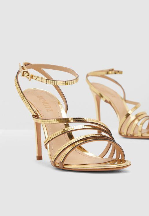 Malha Heel Sandal