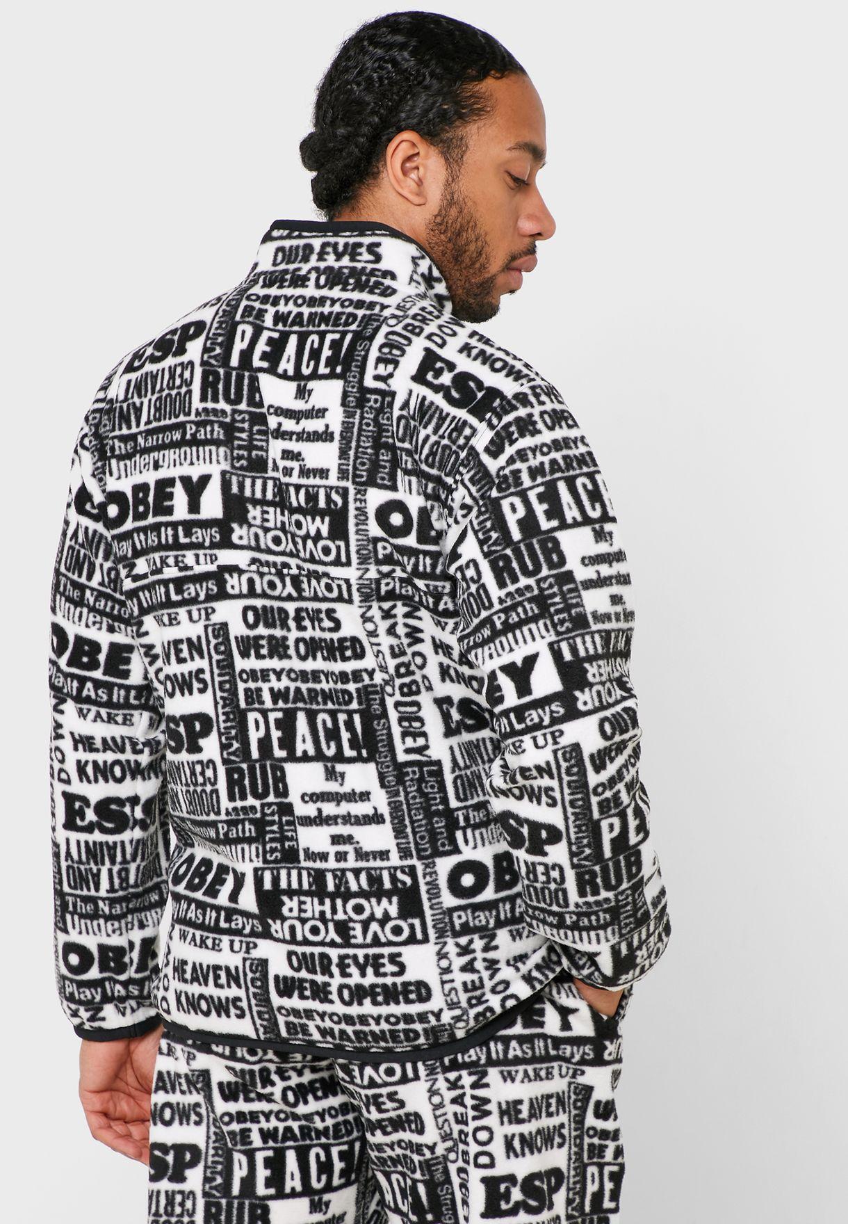 Post Mock Neck Sweatshirt