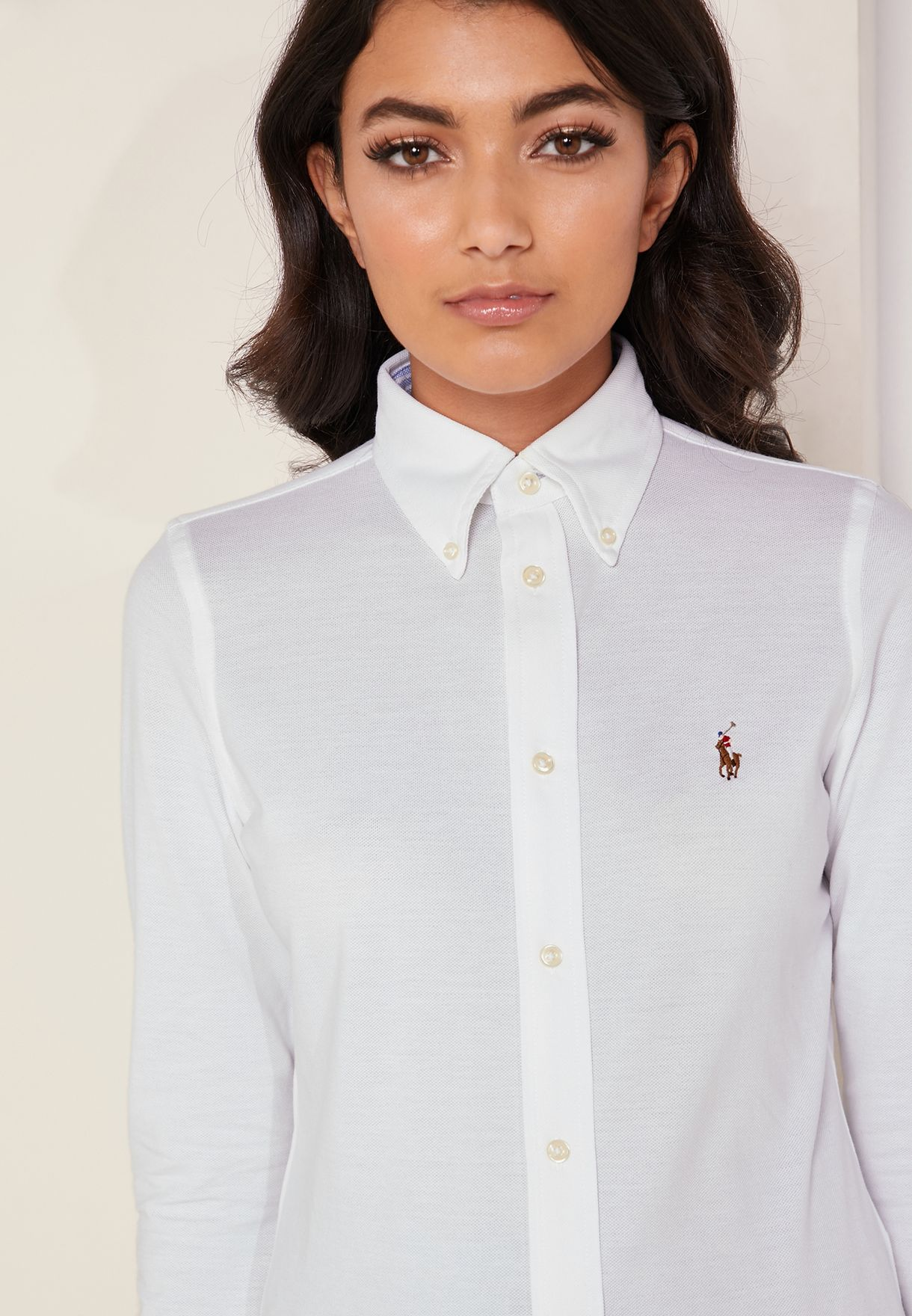 Button Down Logo Shirt