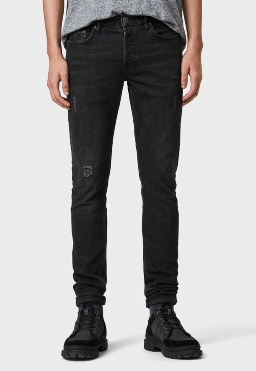 Rex Distressed Slim Fit Jeans