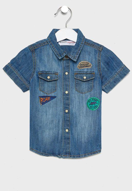 قميص جينز بتطريز
