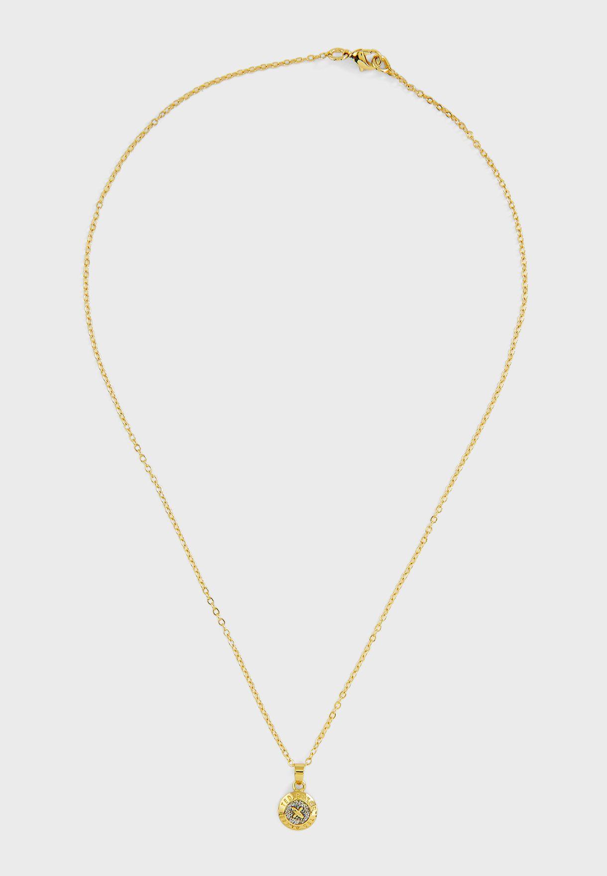 Emillia Mini Button Necklace + Earrings Gift Set