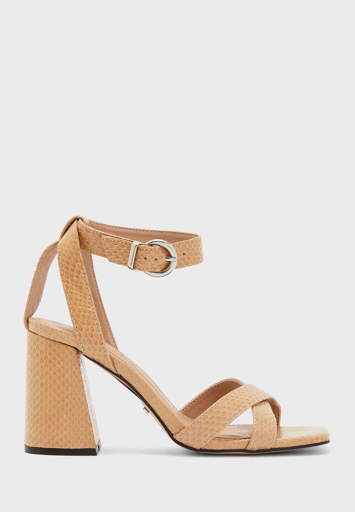 Wide Fit Sacha Ankle Tie Block Heel Sandal