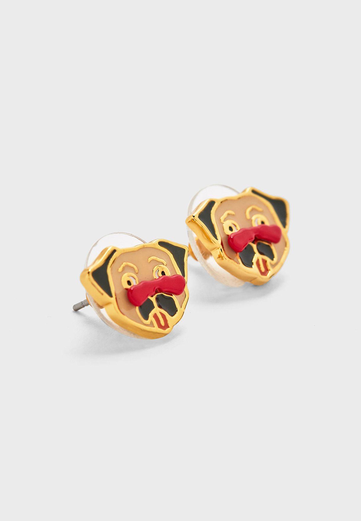 Charming Pug Stud Earrings