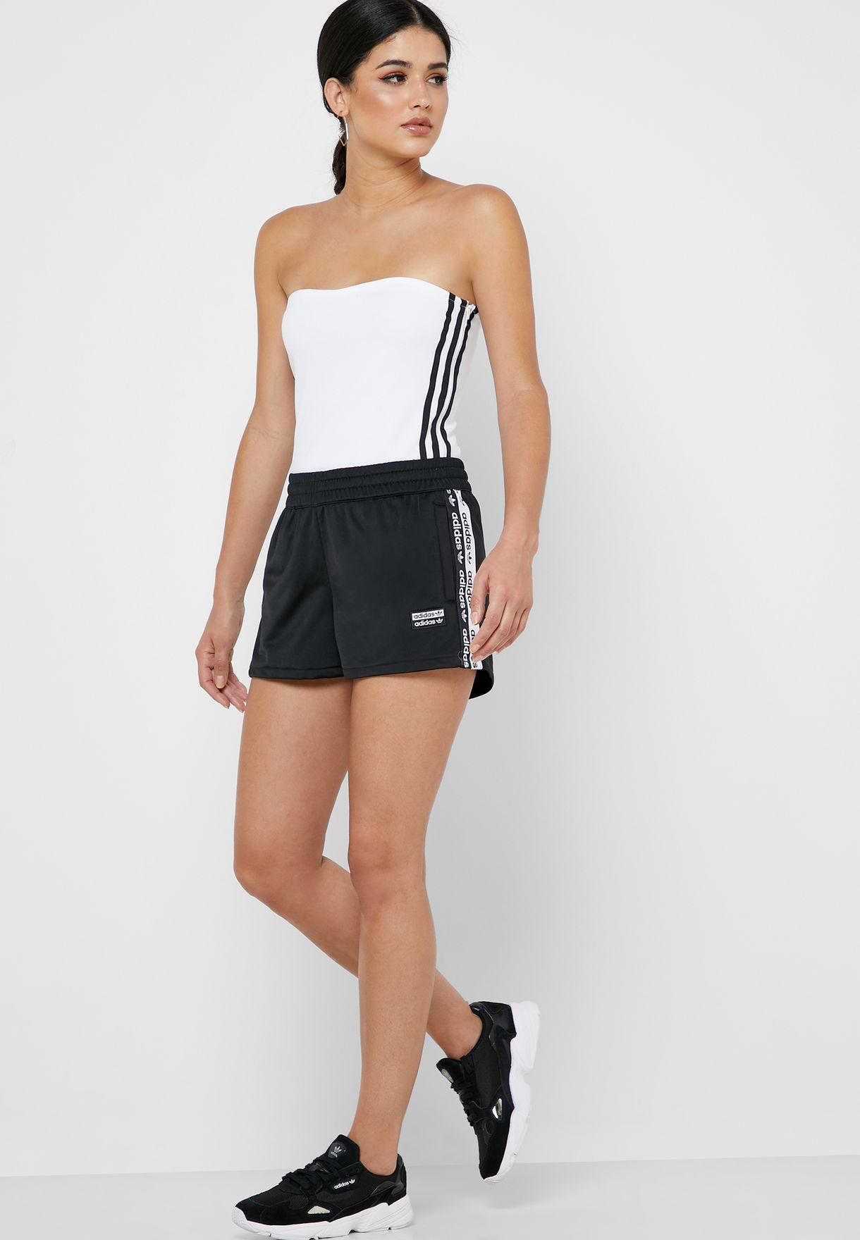 adidas Originals white 3 Stripe Bandeau