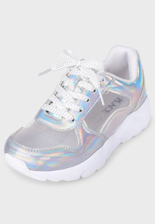 Kids Holographic Clear Sneaker