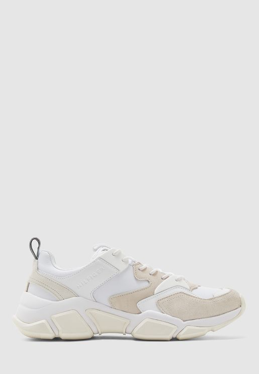 Chunky Material Mix Sneakers