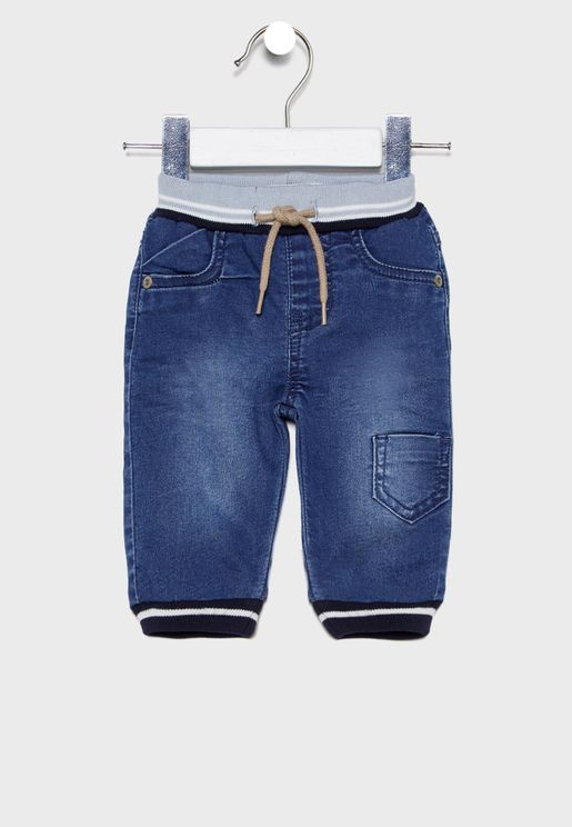 Infant Drawstring Waist Jogg Jeans
