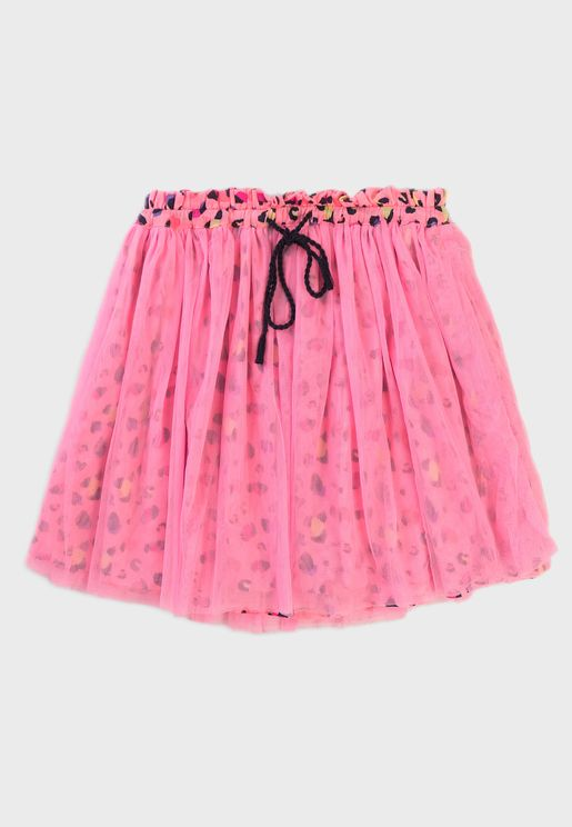 Kids Printed Tulle Skirt