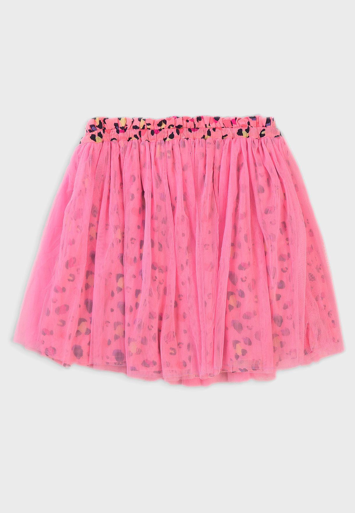 Kids Printed Tulle Skirt