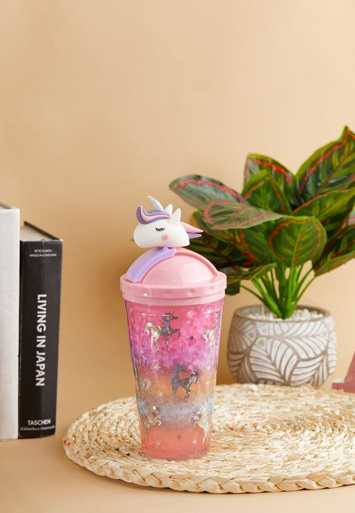 Unicorn Tumbler With Straw