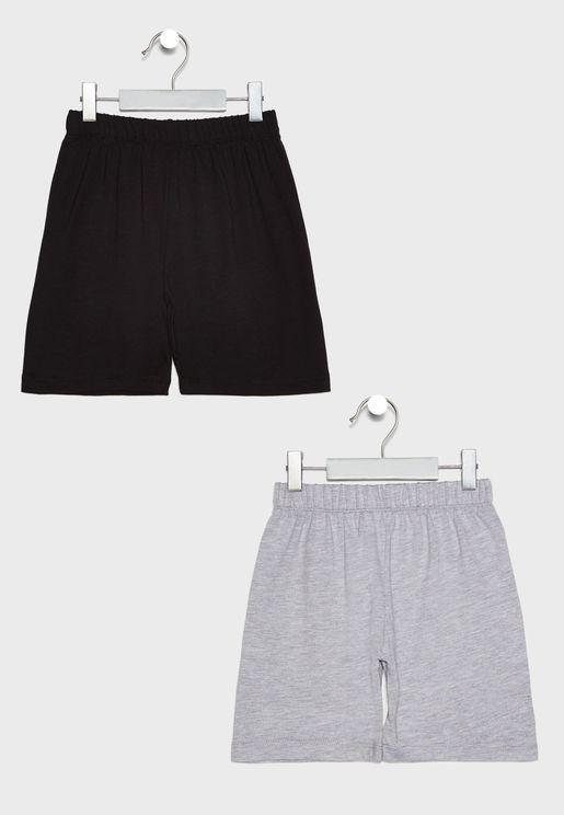 Kids 2 Pack Shorts