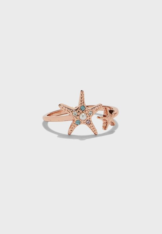 Under The Sea Starfish Ring