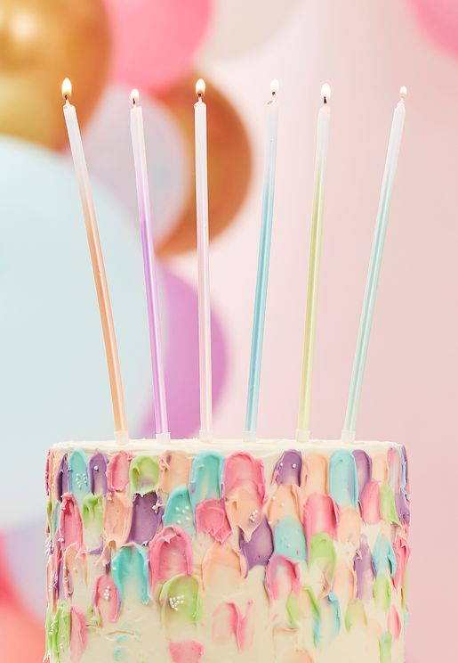 Tall Ombre Cake Candles