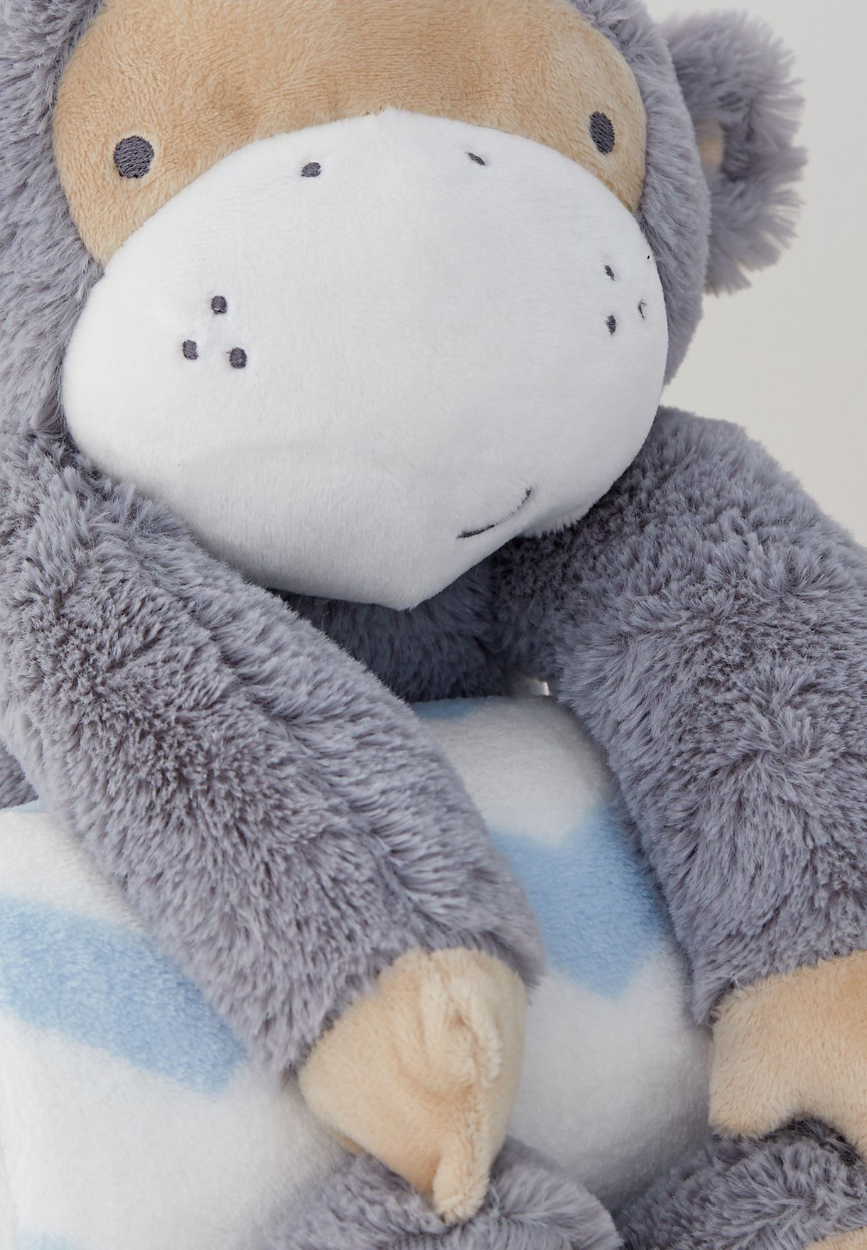 Gorilla Rolled Blanket And Toy Set