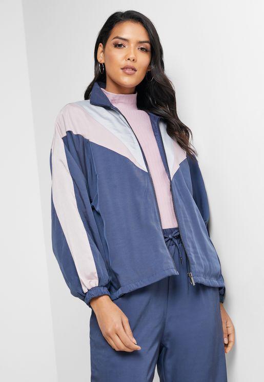 Oversized Colourblock Track Jacket