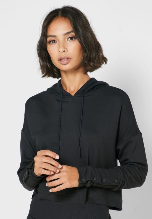 Yoga Luxe Cropped Hoodie