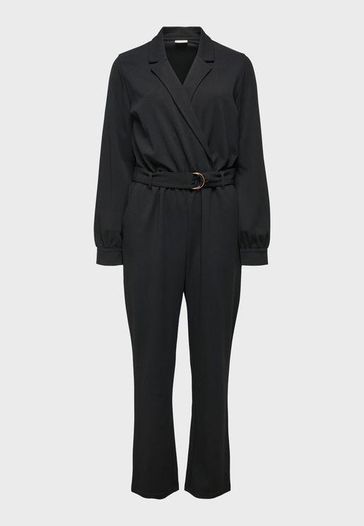 Surplice Tailored Jumpsuit
