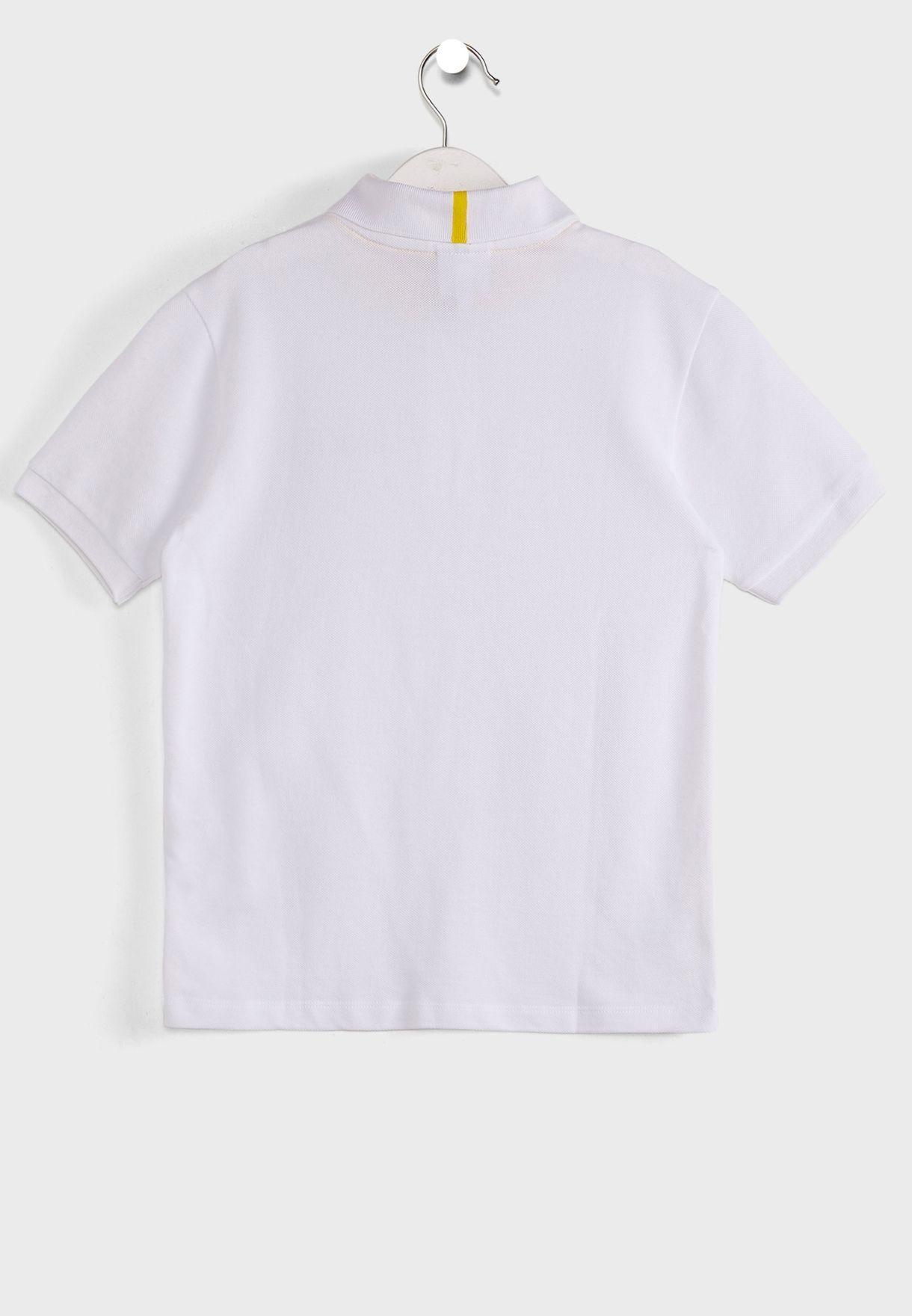 قميص كلاسيكي بشعار الماركة