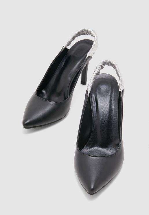 Ankle Strap Pump - Black