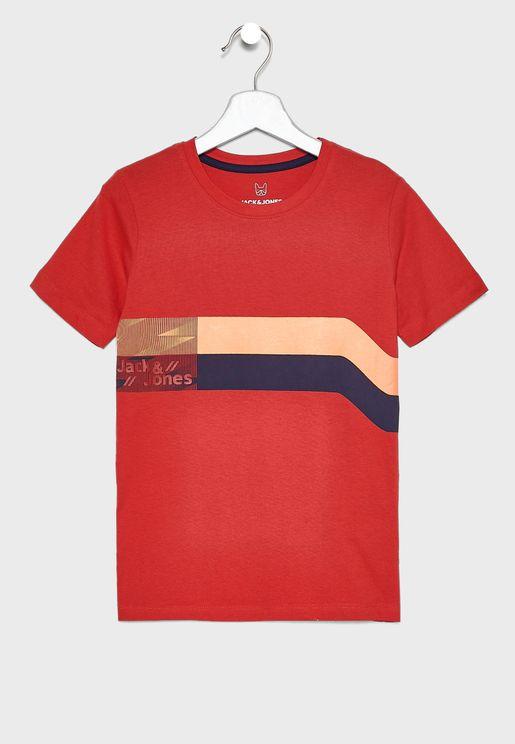 Teen Stripe Logo T-Shirt