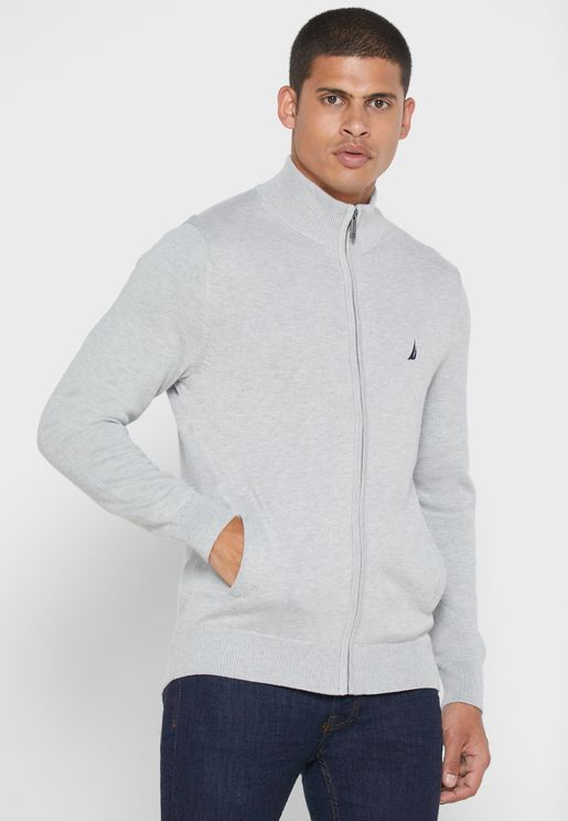 Essential Zip Through Sweater
