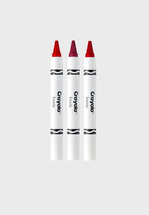 Color Crayon Trio - Romantic Red