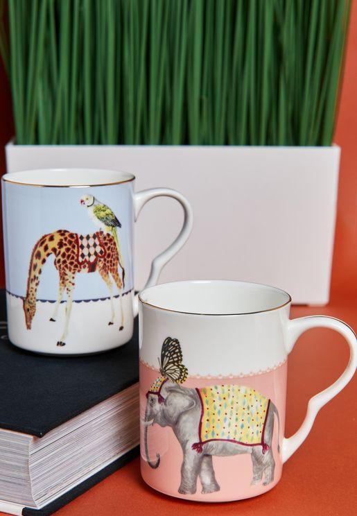2 Pcs Mugs Set