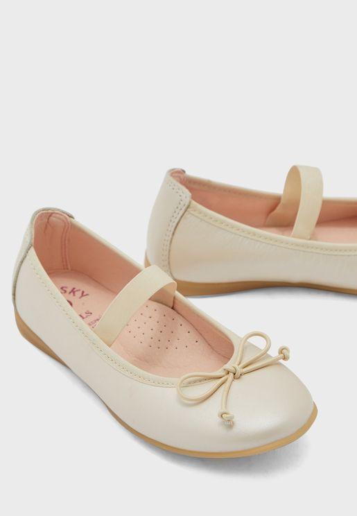 Kids Knot Detail Ballerina