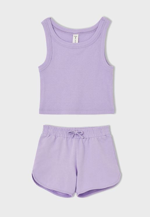 Kids Essential Vest and Shorts Set