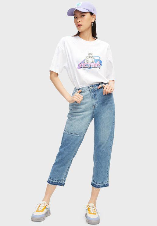 جينز واسع