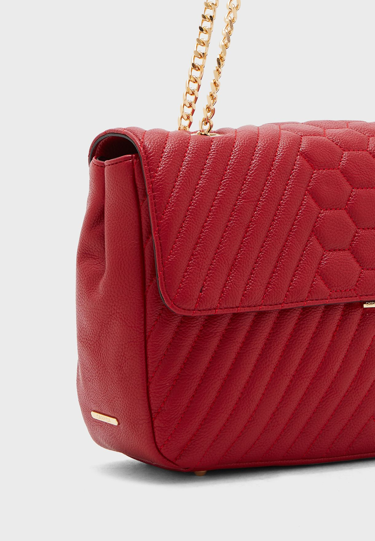 Flap Over Quilted Crossbody