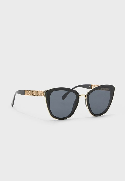 Teresa Lattice Arm Cateye Sunglasses