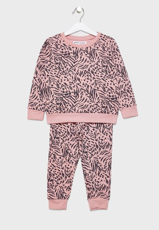 Little Tiger Print Tracksuit