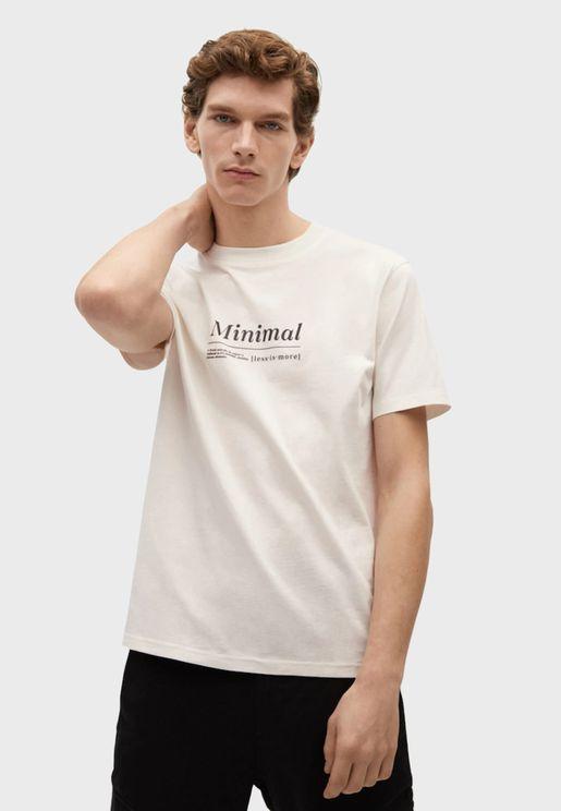 Minimal Crew Neck T-Shirt