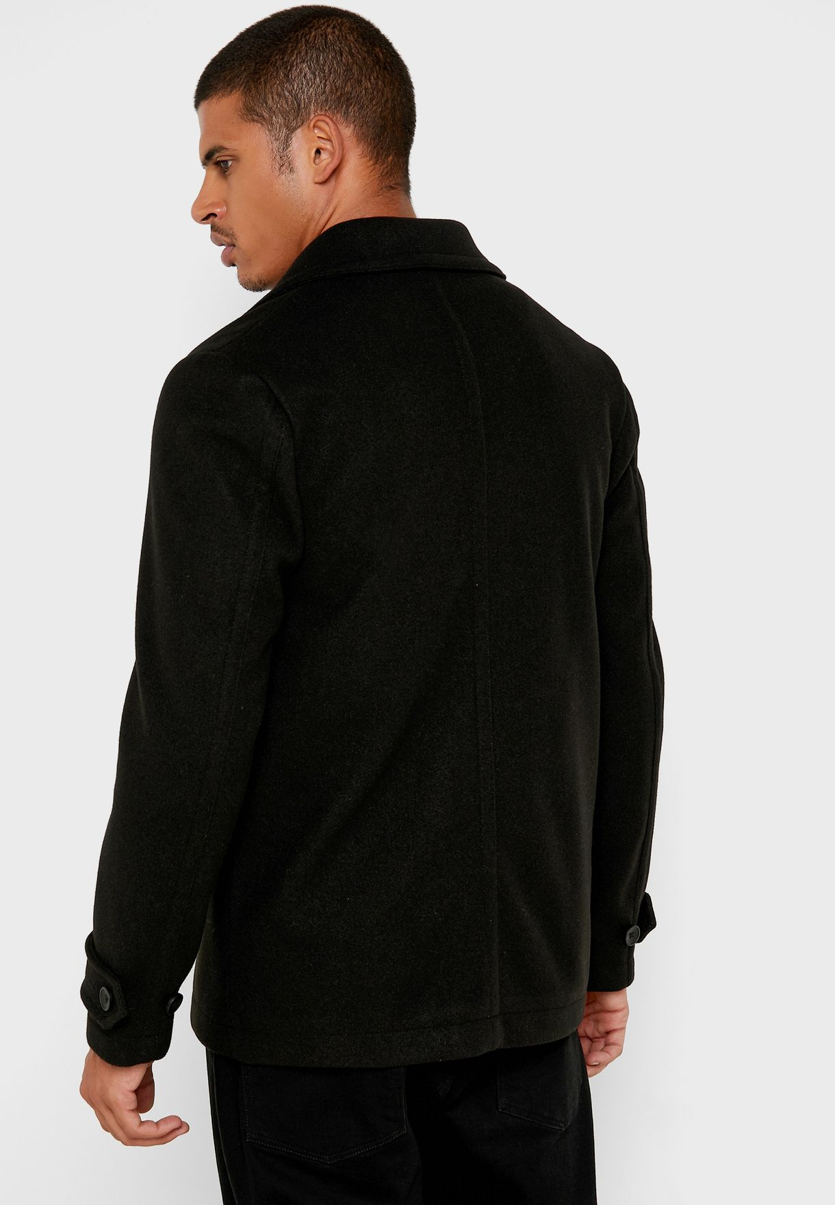 Faux Double Breasted Coat