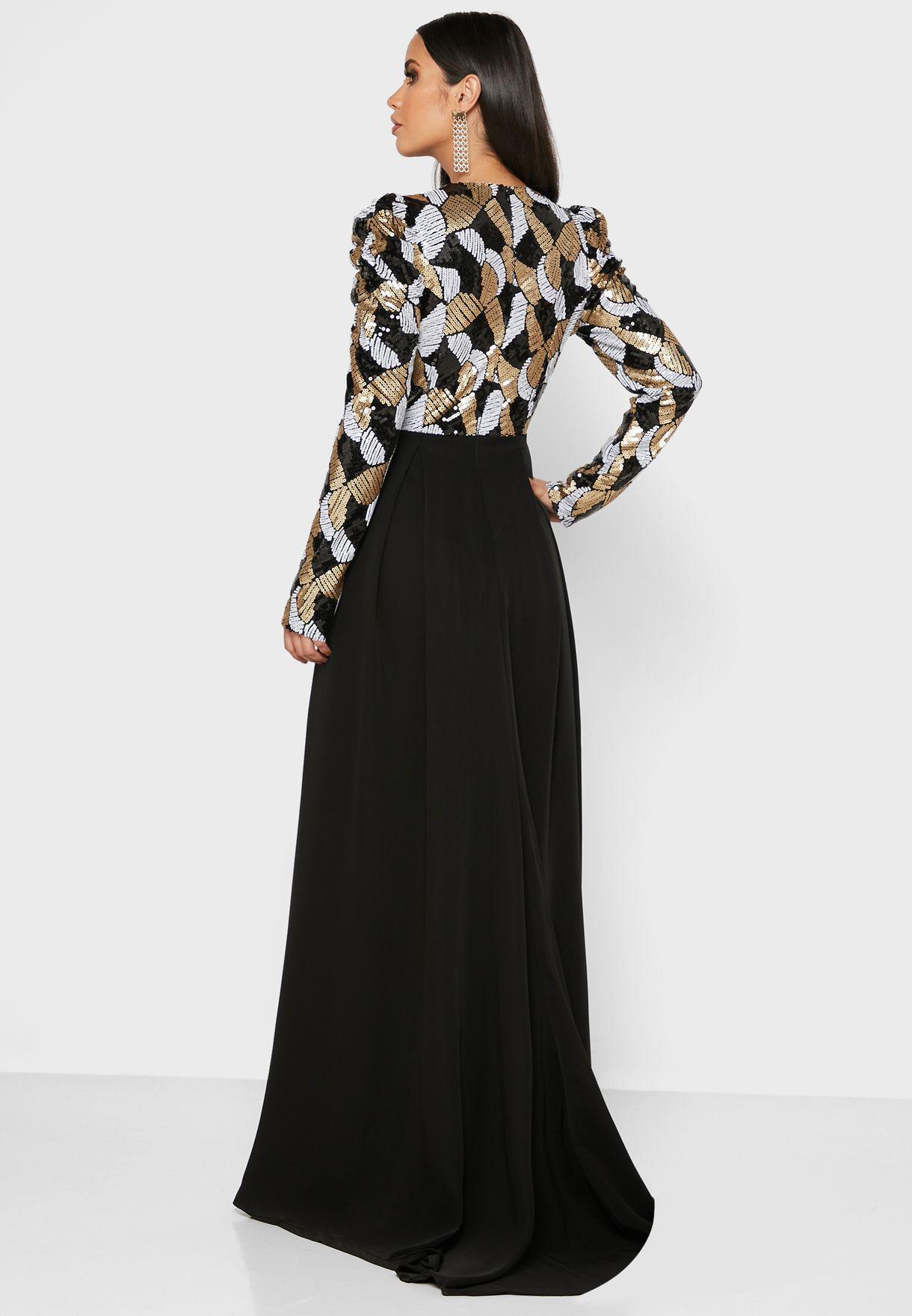 Drew High Low Printed Dress