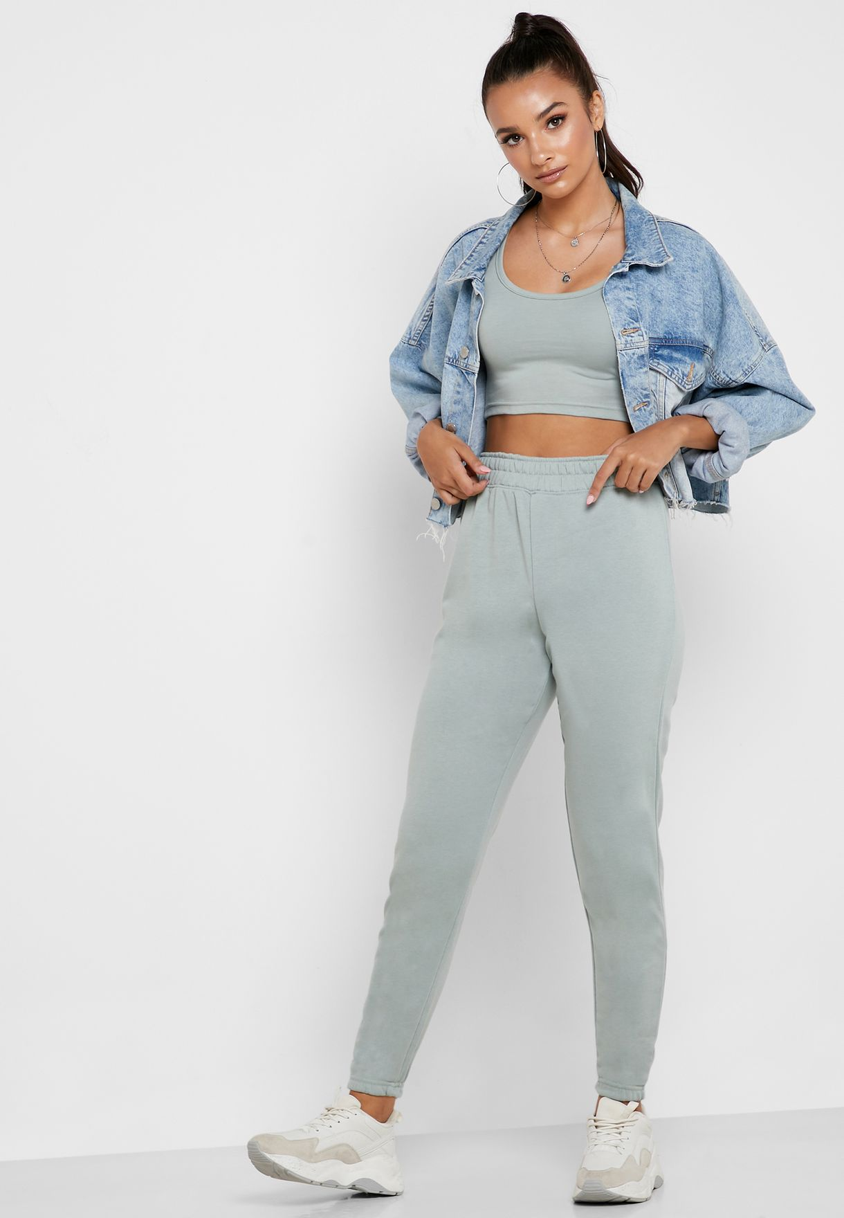 Cropped T-Shirt  And Joggers Set Co Ord