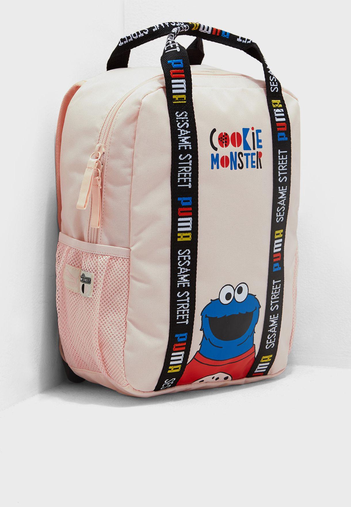e9f1b9b8263cac Shop PUMA pink Sesame Street Backpack 07582102 for Kids in Saudi -  20000AC23HWP